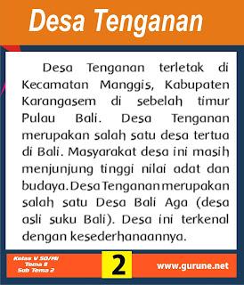 Desa Tenganan terletak di Kecamatan Manggis, Kabupaten Karangasem di sebelah timur Pulau Bali