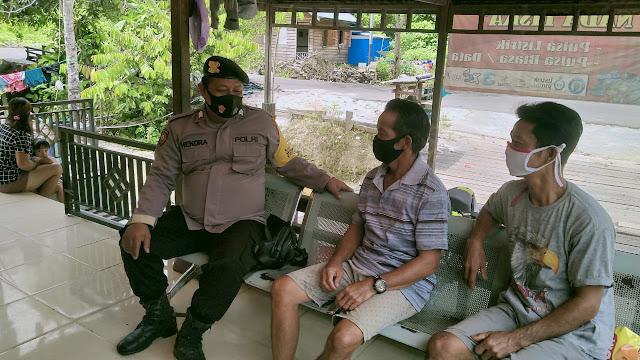 Personel Polsek Banama Tingang Imbau Masyarakat Agar Tetap Menjaga Situasi Kamtibmas yang Aman