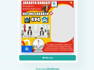 Bingkai Twibbon Jakarta Bangkit HUT DKI - kanalmu