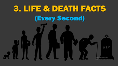Life and Death Facts Every Second, Life and Death Facts, Every Second