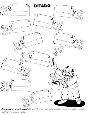 Atividades – Ditado para Alfabetização Infantil