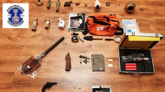 Συνελήφθησαν δύο αρχαιοκάπηλοι στο Βιβάρι Αργολίδας