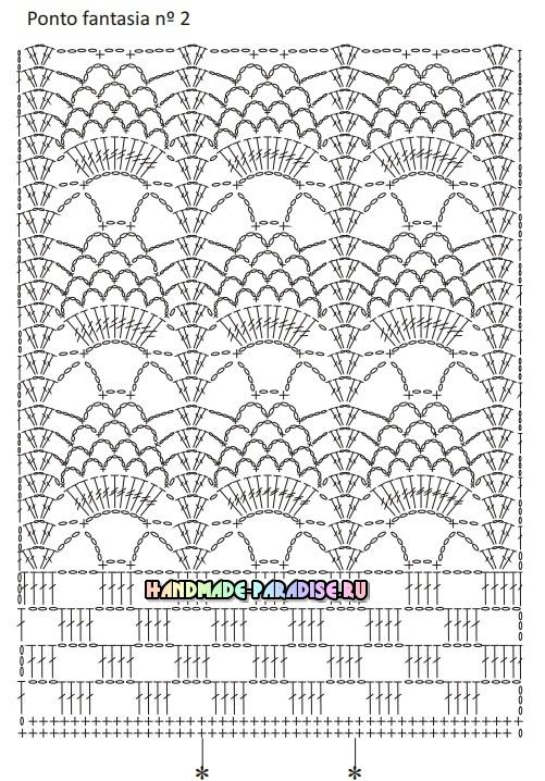 Роскошная длинная юбка крючком. Схемы вязания (2)