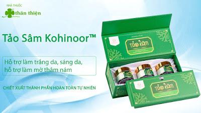 Viên uống Tảo Sâm Kohinoor, hỗ trợ làm trắng da, sáng da