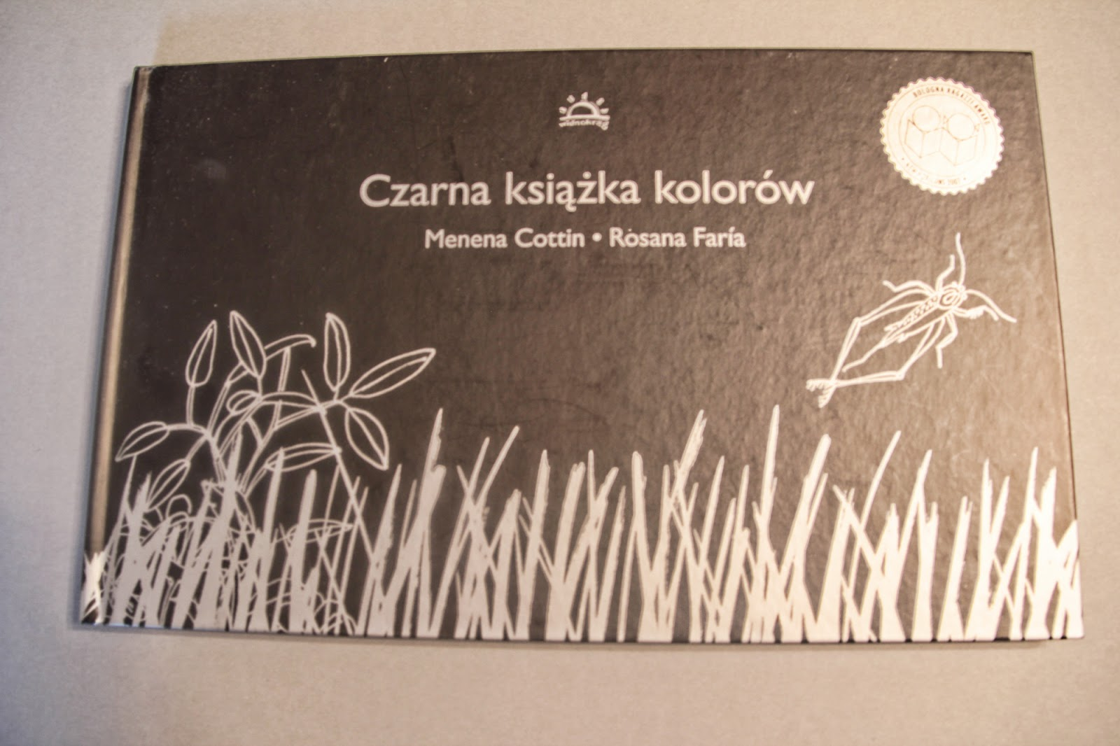 picture book Czarna książka kolorów Menena Cottin, Rosaria Faria, Widnokrąg