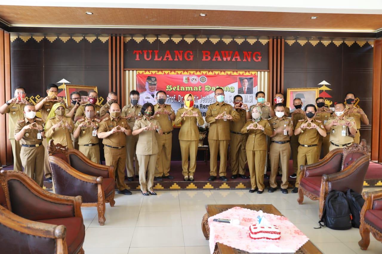 PemKab Tulang Bawang, Provinsi Lampung, menerima kehadiran Guru Besar IPDN Prof. Dr. H. Murtir Jeddawi, SH., S.Sos., M.Si.