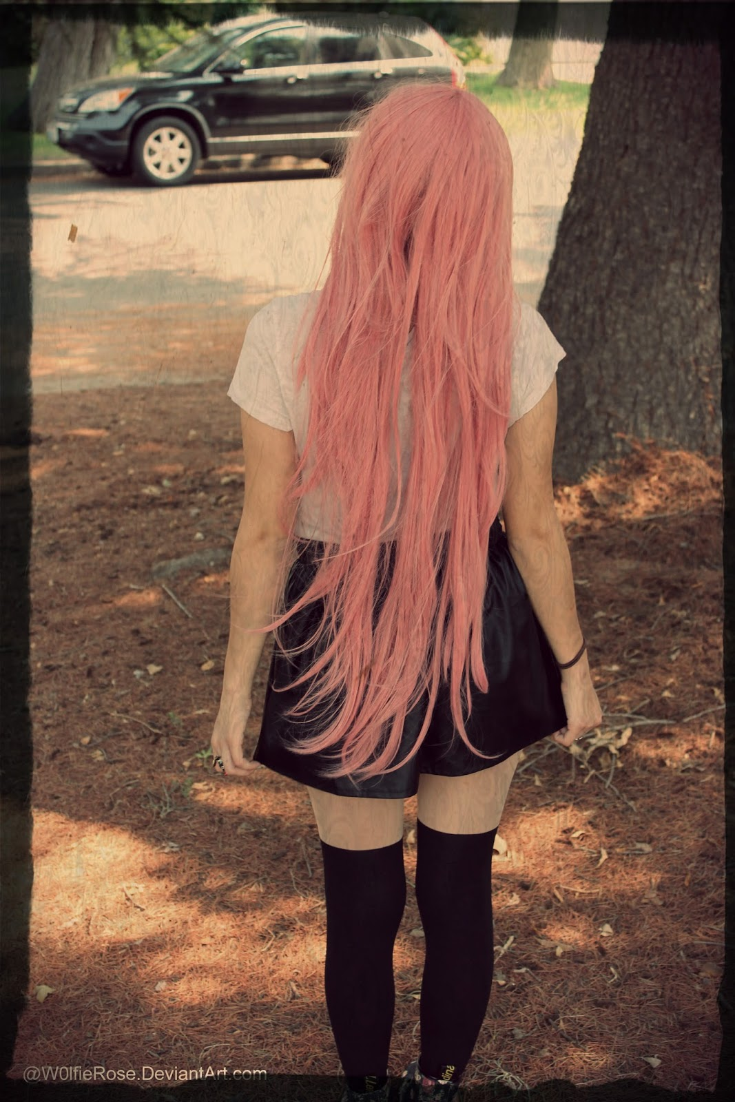 Wolfie Rose Outfit Of The Day Totoro Tights And Pink Hair
