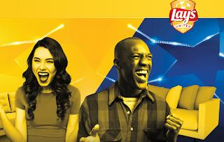Logo Concorso ''Lay's fan match'': vinci TV Sony,poltrone gonfiabili, Sony Soundbar e la Champions League