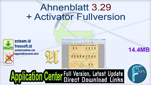 Ahnenblatt 3.29 + Activator Fullversion