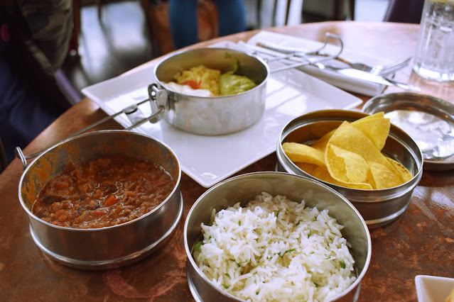 Lunch at The Alchemist Leeds chilli and rice