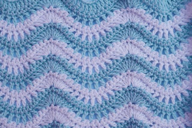 5 - Crochet Puntada ondas combinada a crochet y ganchillo por Majovel Crochet paso a paso
