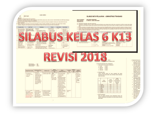 Download Silabus SD kelas 6 Kurikulum 2013 revisi 2018