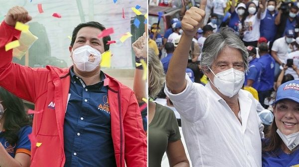 Ecuador:  Arauz y Lasso se enfrentarán en la segunda en vuelta