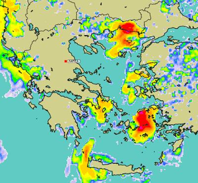 6 - Μπόρες και καταιγίδες σε μεγάλο μέρος της χώρας (+XAΡΤΕΣ ΥΕΤΟΥ)
