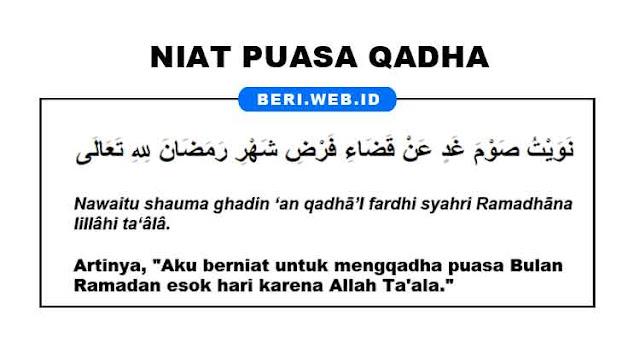 Niat Puasa Qadha atau Mengganti Puasa Ramadhan