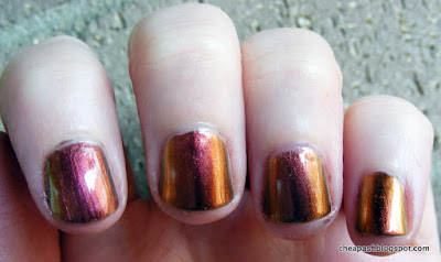 Sally Hansen Amber Ruby and Color Club Burnt Out