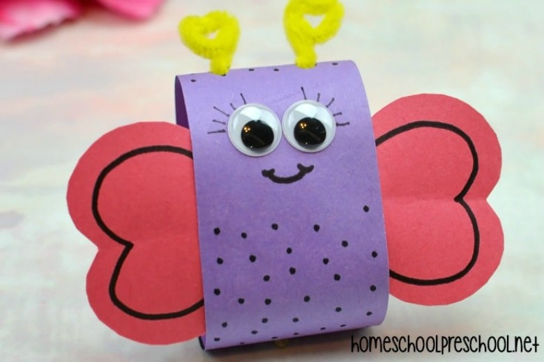 Valentine's Day love bug craft for preschool