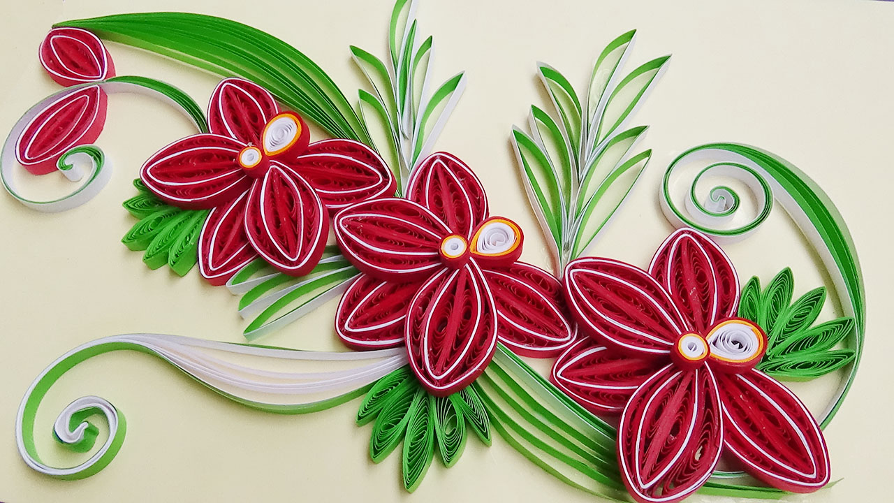 Paper Quilling How To Make A Beautiful Flower Orchids With A Paper