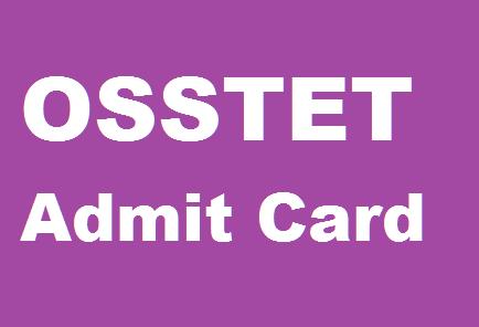 bse odisha osstet admit card
