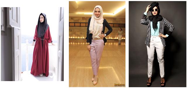 8 Inspirasi Model Busana Muslim dan Hijab Dari Para Artis Indonesia