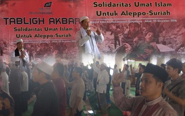 Anggota Hizbut Tahrir Indonesia Kota Banjarbaru, HM Soleh Abdullah menyatakan apa yang terjadi di Aleppo - Suriah bukan hanya soal kemanusiaan, tapi soal keimanan.
