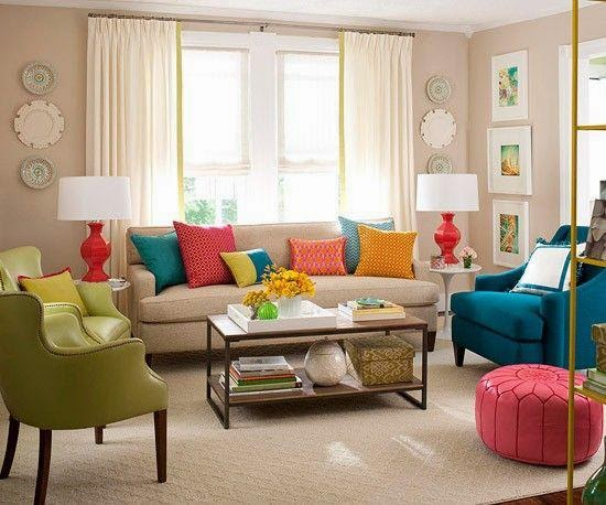 Living Room Design and Ombre Hair Ideas Colorful Living