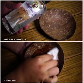 Cara Membuat Mangkok Dari Batok Kelapa Beserta Gambarnya