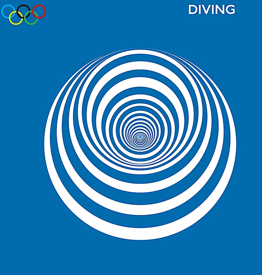 Diving, The Olympic Games London 2012, a color poster