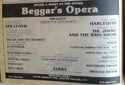 Beggar's Opera ad April 1981
