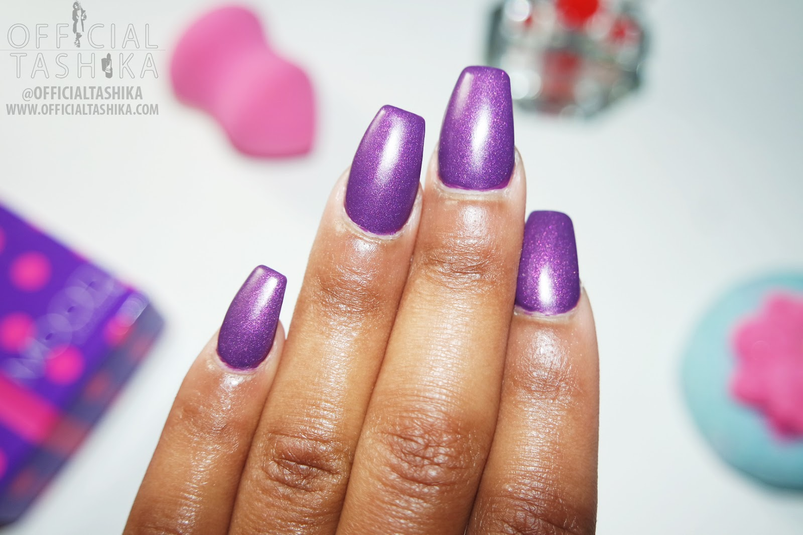 Tashika Bailey | Matte Purple Coffin Nails