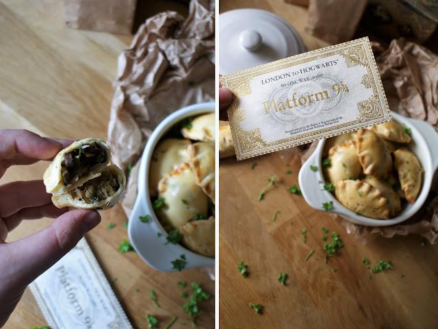Hand Pies gefüllt mit Champignons und Porree