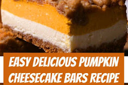 Easy Pumpkin Cheesecake Bars Recipe #pumpkinpie #pie #cheesecake #bars