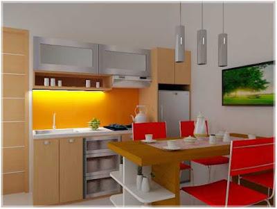 model desain dapur dan ruang makan