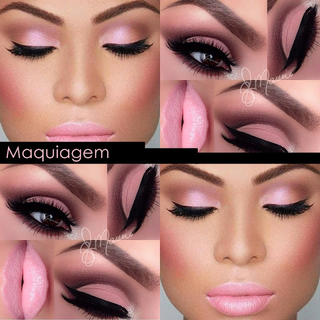 maquiagem rosa, maquiagem rose quartz, batom rosa, sombra rosa, esfumado rosa