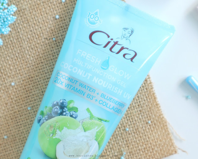 review citra fresh glow multifunction gel coconut
