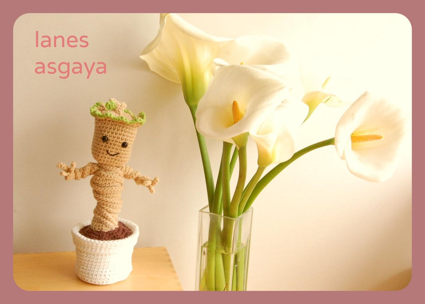 Amigurumi Pattern Baby Groot en macetero amigurumi (crochet ... | 1000x1395