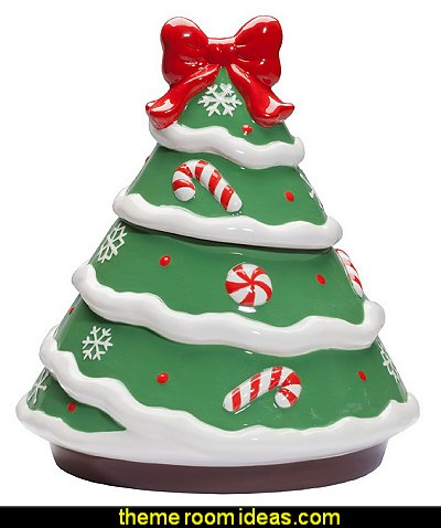 Ceramic Christmas Tree Cookie Jar
