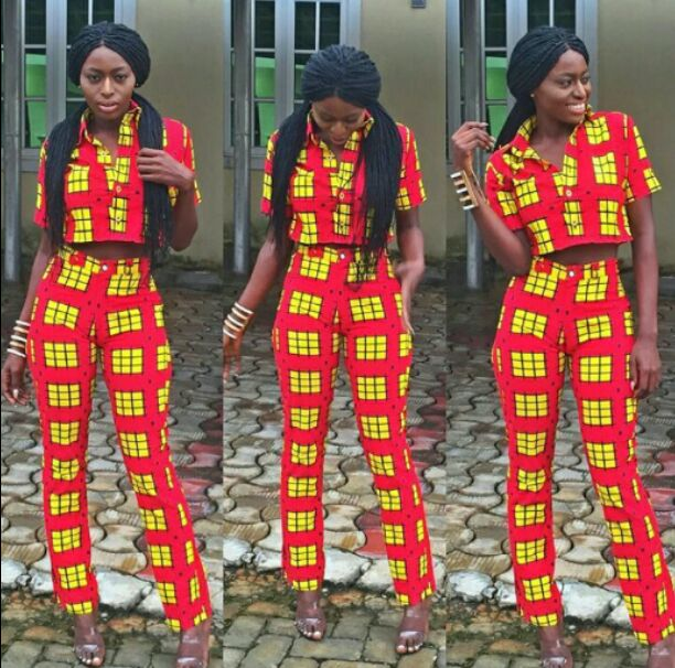 Ankara style with crop top