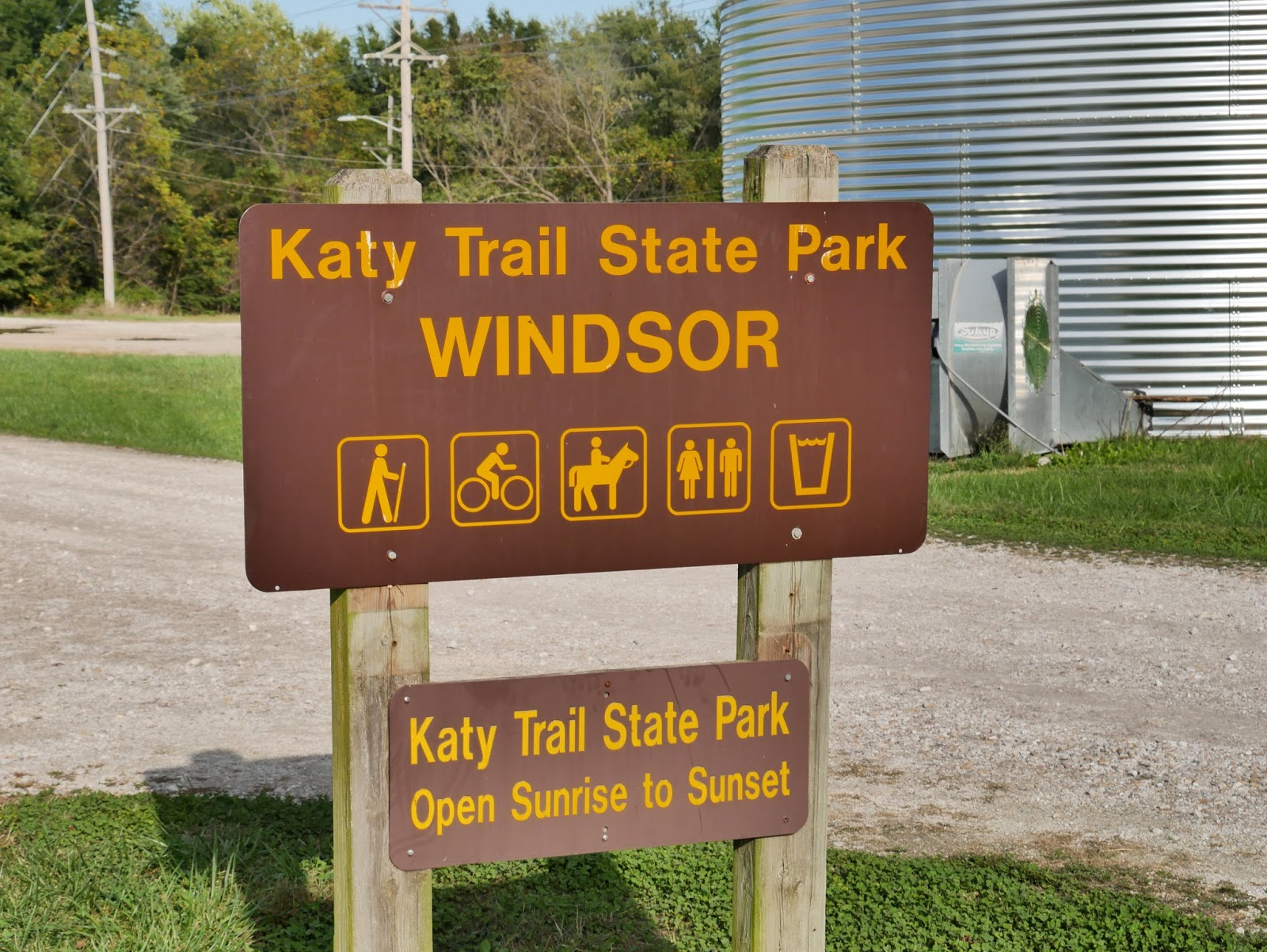 We Continued Our October 2017 Bike Ride On The Katy Trail State Park By Riding Segment From Windsor To Calhoun Missouri While Mileage