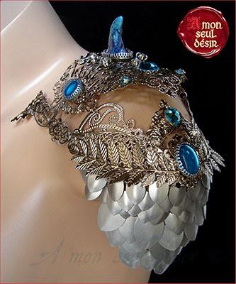 Dragon Scale Armor Fantasy Medieval Chain Mail Ecaille de Dragon Aluminium Cotte de Maille Armure Epaulette Spaliere