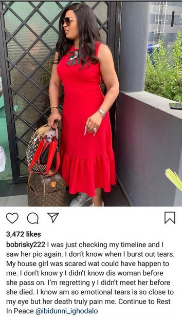 The Death Of Ibidun Ighodalo Has Really Affected Me - Bobrisky #Arewapublisize