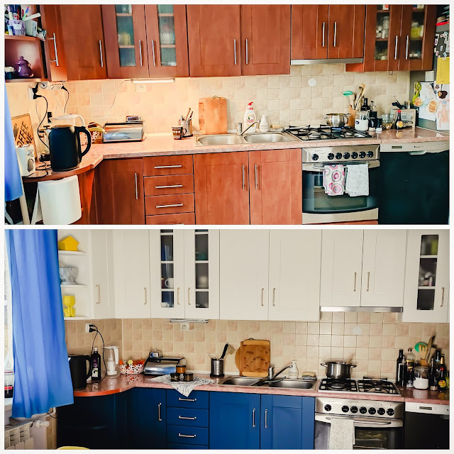 Najtańszy remont kuchni cz.1 malowanie szafek kuchennych przed i po