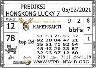 Prediksi Togel HONGKONG LUCKY 7 DUNIA4D 05 FEBRUARI 2021