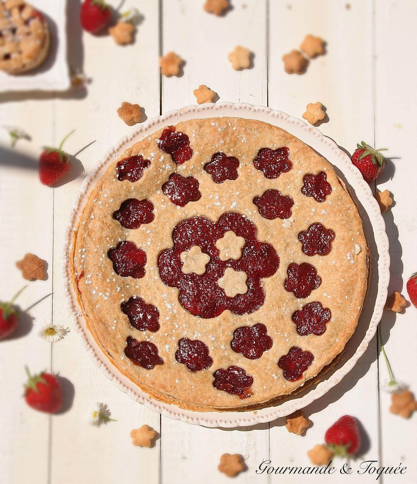 Que Faire Des Fleurs De Rhubarbe gourmande & toquée: tourte fleurs rhubarbe et fraises