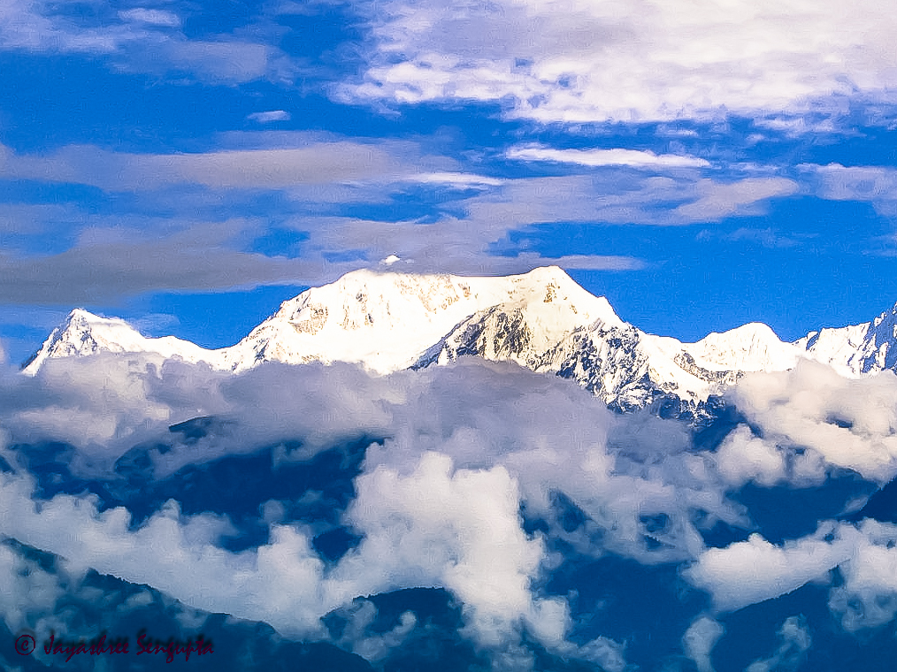 Kanchendzonga view from upper Pelling @DoiBedouin