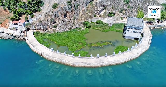"""Αργολίδα: Τα """"τρέλα νερά"""" του Ανάβαλου (βίντεο drone)"""