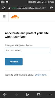 Cara Menghubungkam Domain ke Cloudflare