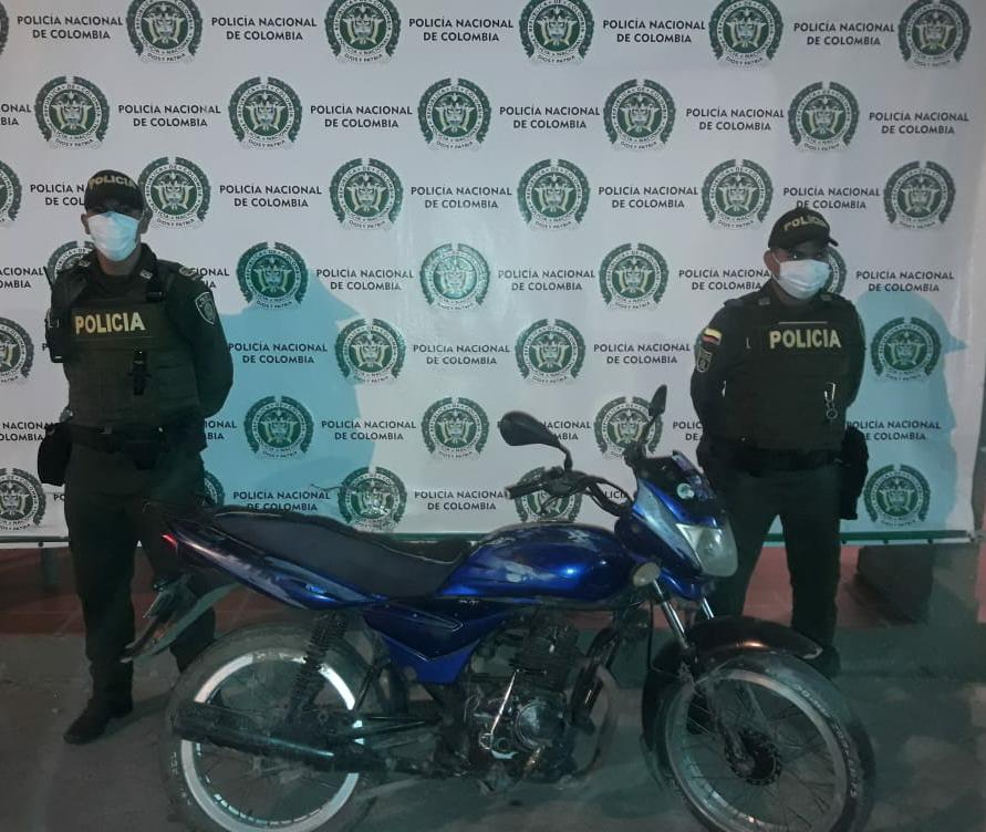 hoyennoticia.com, Moto robada en Riohacha aparece en Maicao