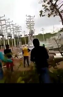 Veja o vídeo que mostra MST destruindo torre de energia no RS