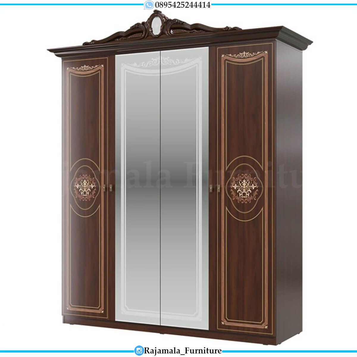 Lemari Pakaian Mewah Jati Classic Natural Luxury Color Furniture Jepara RM-0556